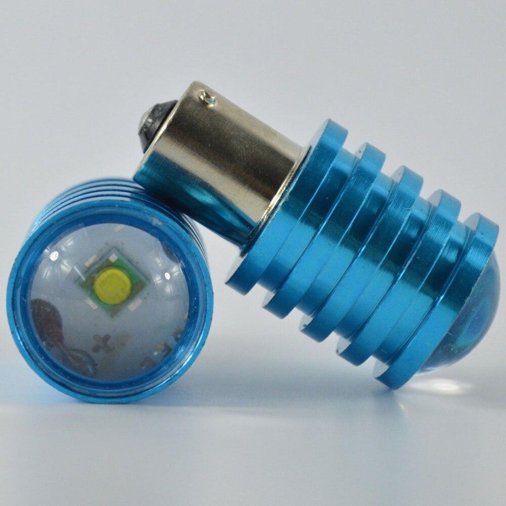 2X 1156 LED turn signal 12V 1157 BAY15D red S25 BA15S P21W led high power Brake stop signal Light lamp bulb white