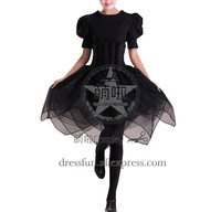Victorian Lolita Steampunk Fairy Corset Gothic Lolita Dress Short Sleeve Black Dress Fashion clothing High Qulity Fast Shipping
