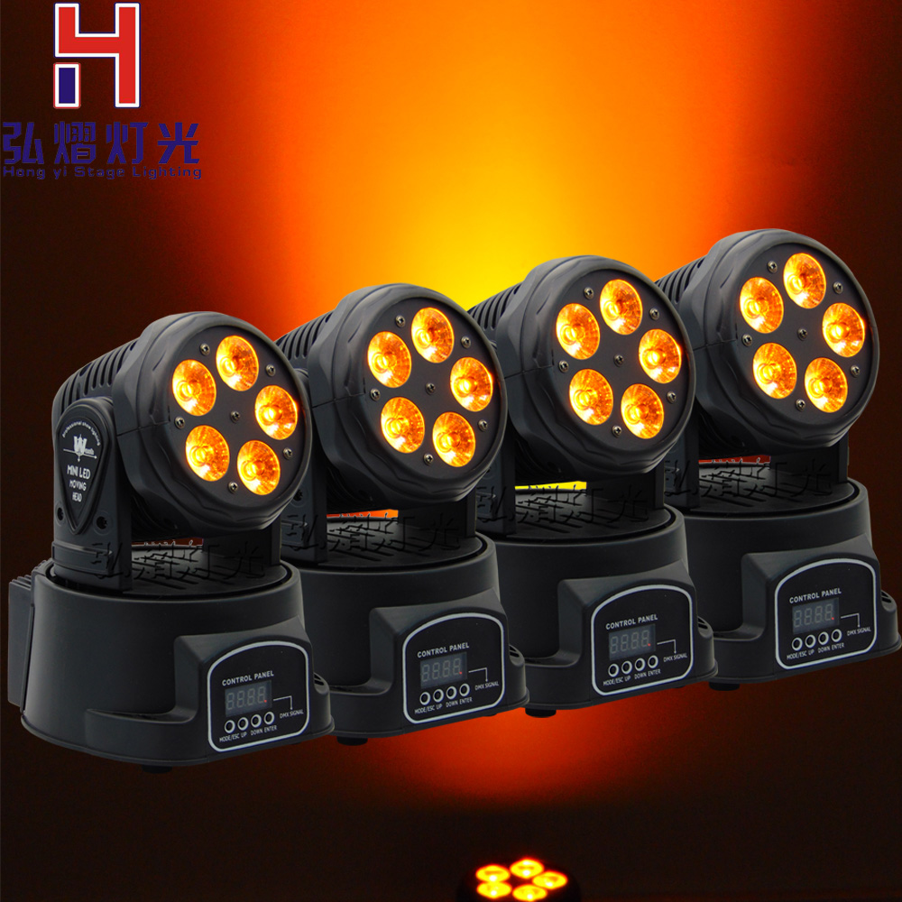 4pcs/lot Factory arrive Dj lighting full color RGBWA moving head stage light 5x18W led DMX Wash dj stage light disco party light 6pcs lot white color 132w sharpy osram 2r beam moving head dj lighting dmx 512 stage light for party