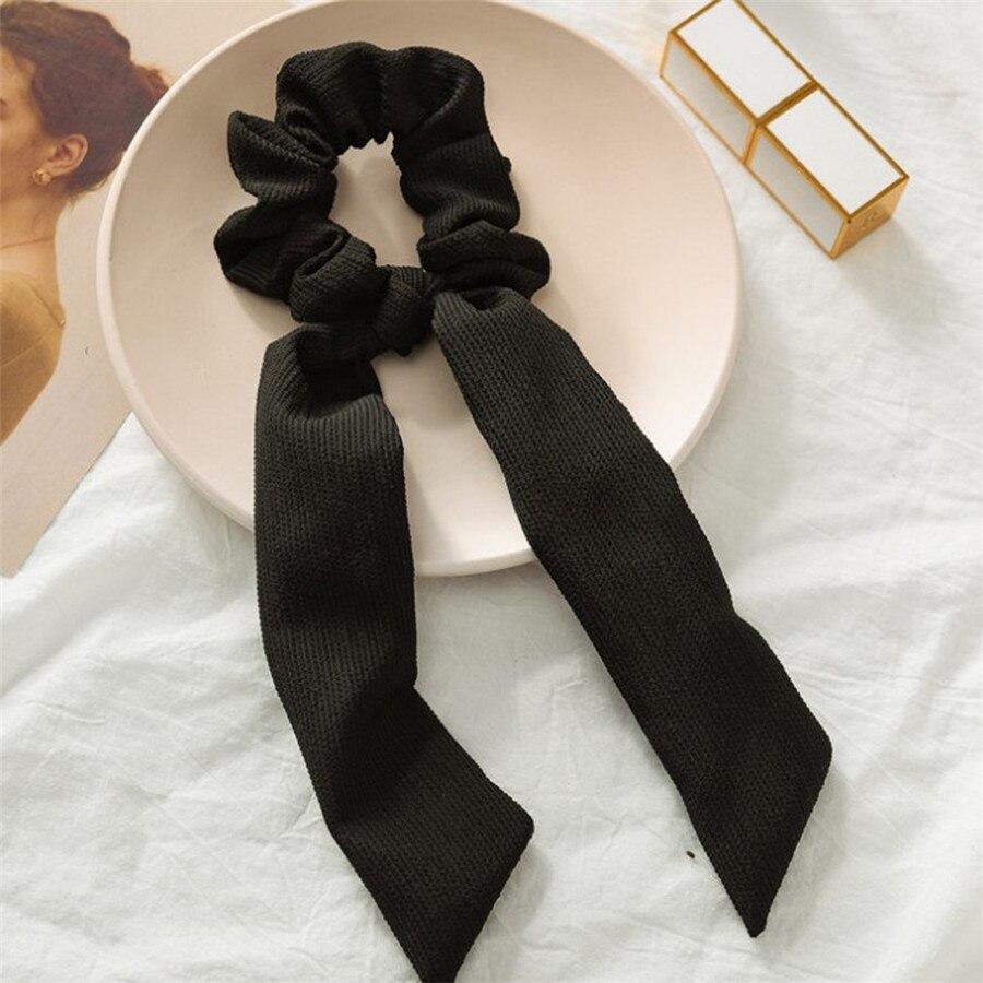 Богемные резинки для волос в горошек с цветочным принтом и бантом, женские эластичные резинки для волос, повязка-шарф, резинки для волос, аксессуары для волос для девочек - Цвет: B2