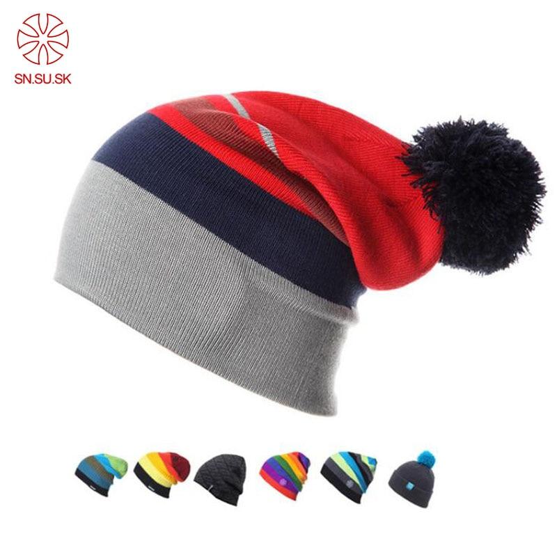 Winter Gorros Snowboard Winter Ski Skating Hats Beanies Head Warm For Men Woman Winter Hat