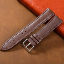 Tephea Watch Band Genuine Leather Straps Buckle 18mm 20mm 14mm 16mm 22mm Accessories High Quality Brown Colors Watchbands