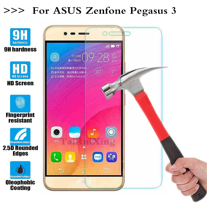 (TaiRuiXing) <font><b>Screen</b></font> Protector Film 0.3mm 9H 25D Front Premium Tempered Glass For <font><b>ASUS</b></font> <font><b>Zenfone</b></font> <font><b>Pegasus</b></font> <font><b>3</b></font> <font><b>X008</b></font> Cover image