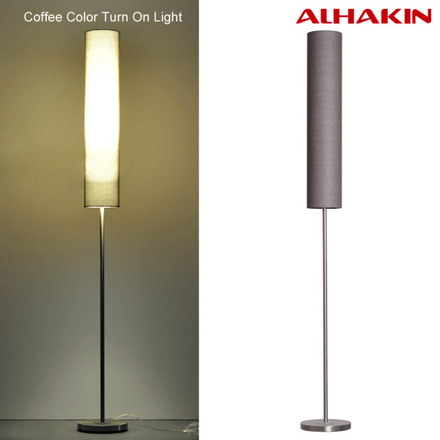 Nordic Floor Lamp With Remote Control 130 180cm Adjustable Height Stainless  Steel And Clothing Material