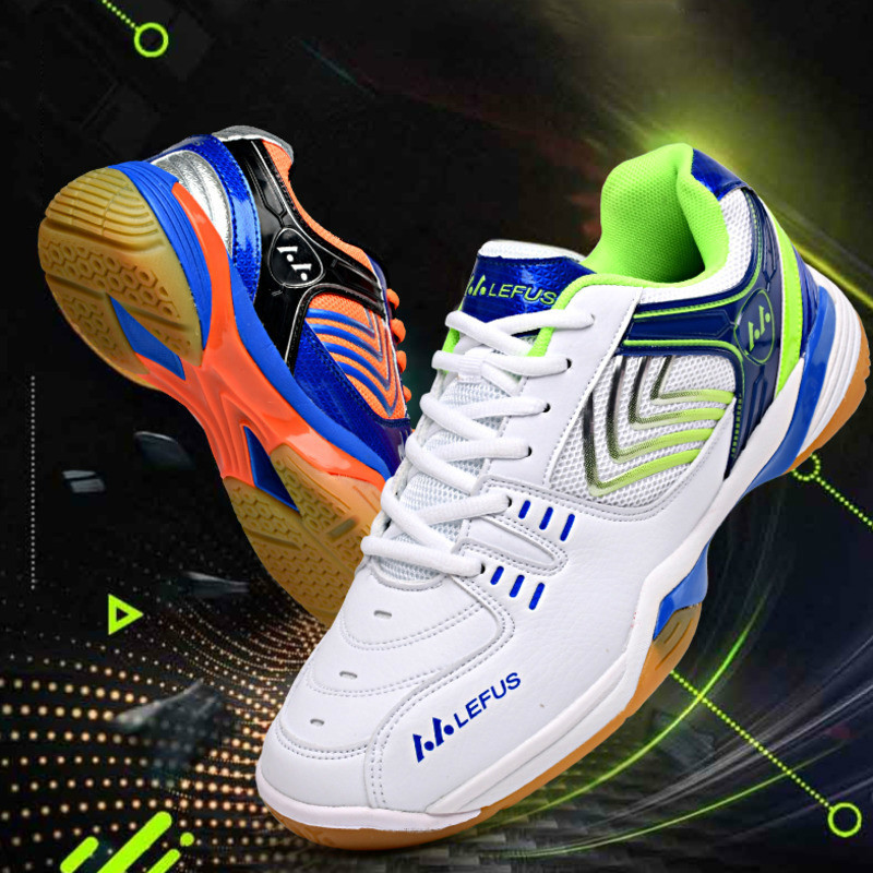 Indoor Professional Tennis Shoes Couples Badminton Sneakers Volleyball Shoes For Men Women Breathable Wear-resistant Anti-Slip