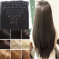 """100% Thick Full head Clip In Hair Extension 24"""" Long Curly Wavy Hair Pad Ombre Brown Black Blonde Fast Free Shipping Li RIch"""