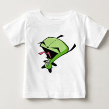 Alien Invader Zim Boys summer clothes 2018 childrens printed extraterrestrial t-shirts tshirt Short sleeve T shirt