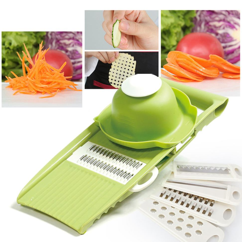 1set Stainless Stee 5 Blades Shredder Slicers Potatoes Carrot Cucumber Peeler Grater Vegetables Cutter tools Kitchen Accessories