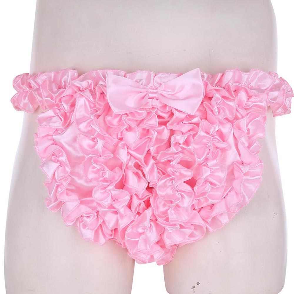 Probably, sissy frilly satin panty all