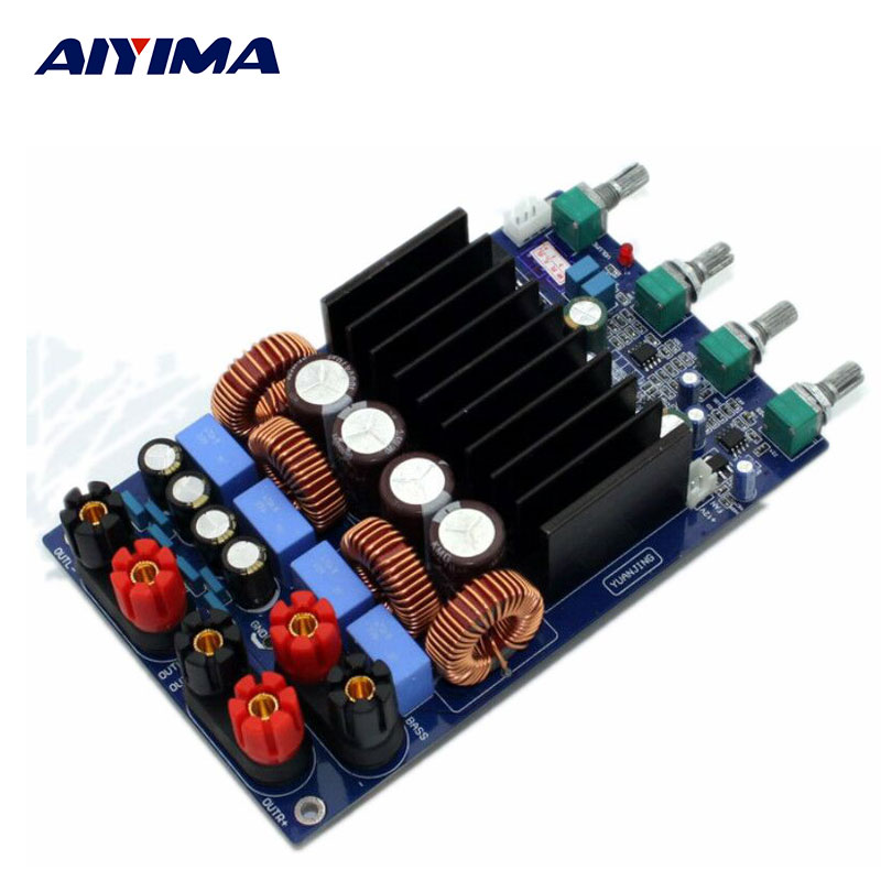 AIYIMA TAS5630 Class D Amplifiers Board HIFI 2.1 Digital Stereo Audio Amplifier DAC Power DIY Power DJ Mixer Home Audio System yjhifi tas5630 opa1632dr audio high power digital amplifier board class d 2 300w dc50v hifi diy deluxe edition