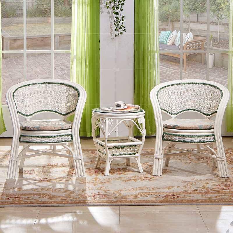 european rattan sofa ivory white tea table seat sets 2 cane chairs 1