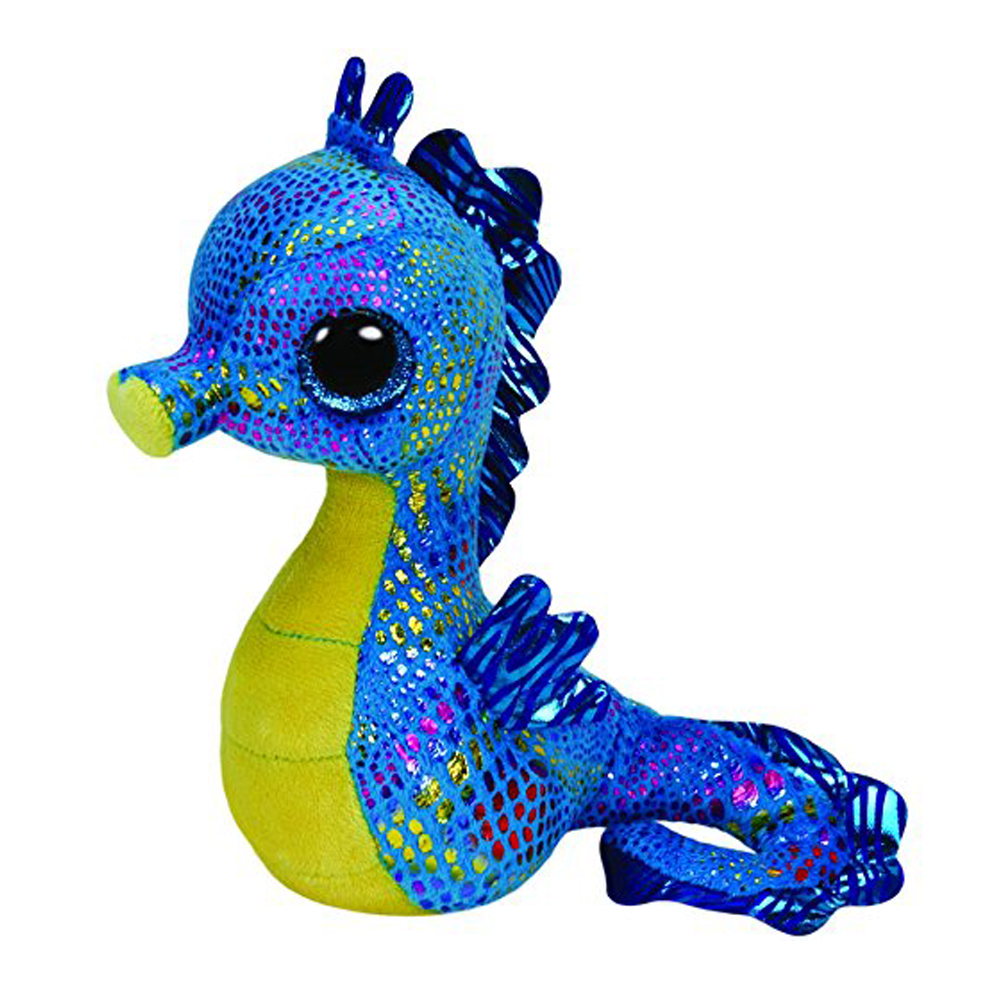 Ty Beanie Boos 6 Neptune Seahorse Plush Regular Stuffed Animal Collection Soft Big Eyes Doll Toy мягкие игрушки ty beanie boos дельфин surf