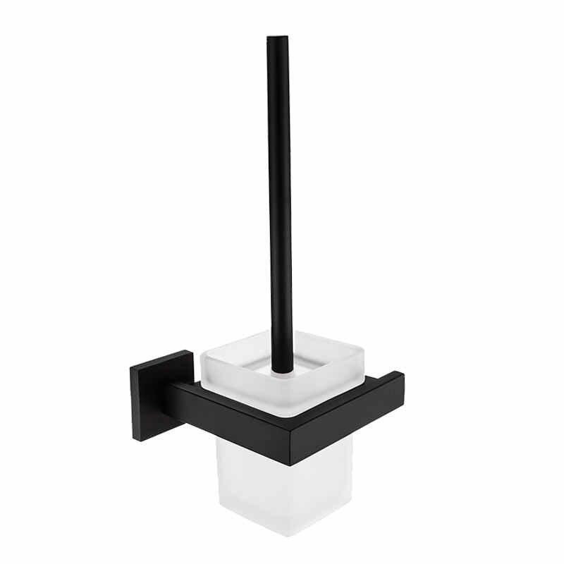 Uchwyt na papier łazienka lustro kwadrat hak akcesoria łazienkowe zestaw 304 ze stali nierdzewnej czarne mydło dozownik łazienka sprzętu zestaw