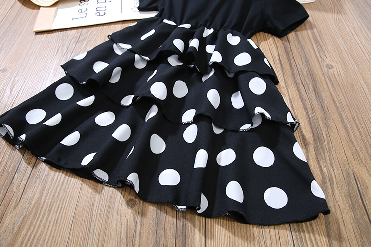 Girls Layered Dresses for Party and Wedding Kids Princess Dot Dress for Toddler Girl Clothes Summer Dot Layered Dress In Kids 4