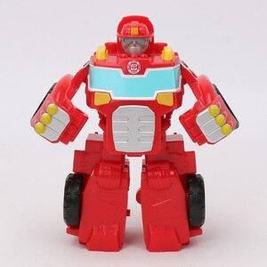 Image 2 - 13 Cm Playskool Heroes Transformers Rescue Bots Energize Heatwave De Fire Bot Hot Shot Rescan Chase De Politie Bot action Figure
