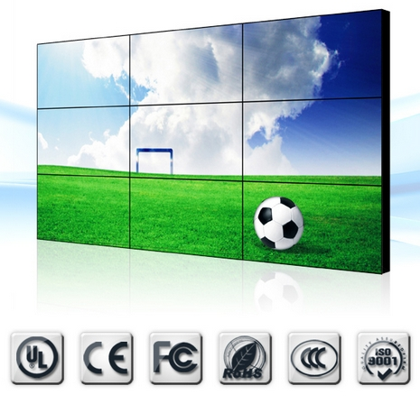 3x3 LCD VideoWall 46inch matrix 3x3 video wall lcd video wall with lcd video wall Video Surveillance CCTV Monitor Display