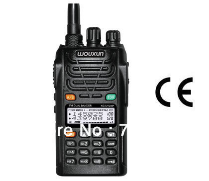 WouXun Dual Band Dual Display KG-UVD1P VHF & UHF tweeweg radio wouxun kg uvd1p walkie talkie 10km Freeshipping Groothandel