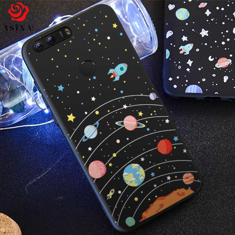ASINA силиконовый чехол для Huawei Honor 8x чехол 3D рельефный космический Fundas для Huawei Honor 8 9 Lite 10 8x Max чехол противоударный бампер