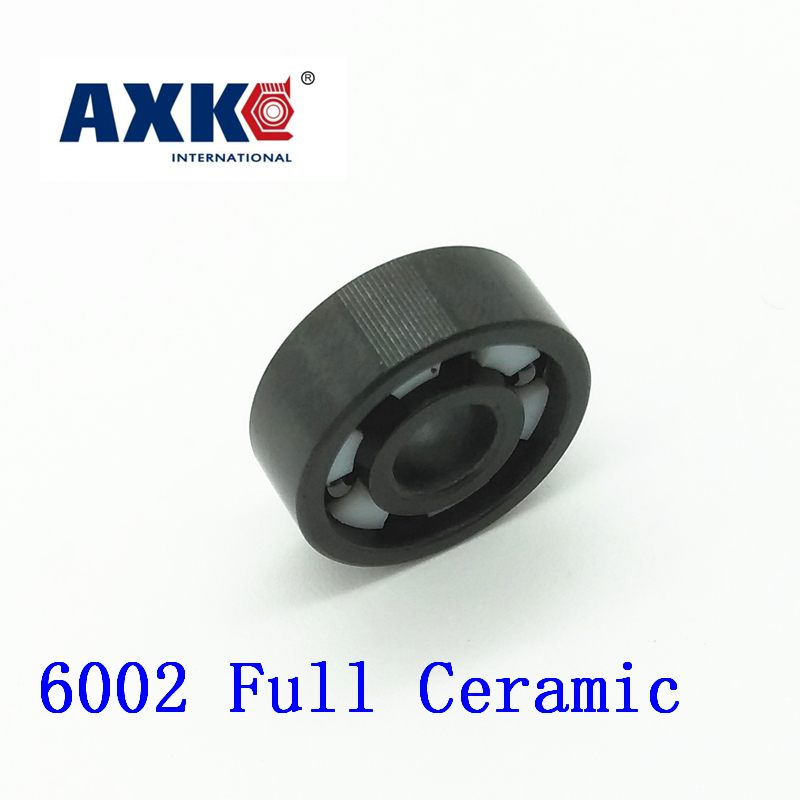 2018 New Rolamentos Axk 6002 Full Ceramic Bearing ( 1 Pc ) 15*32*9 Mm Si3n4 Material 6002ce All Silicon Nitride Ball Bearings цена