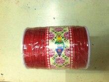 Rojo 1.0mm 280 M/380 yardas/lot Nudo Chino Nylon Cuerda de la Cuerda de la Pulsera de Shamballa de la joyería