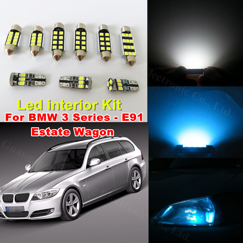 WLJH 17x White Canbus No Error LED Car Interior Lighting Kit For BMW 3  Series E91 Estate Wagon 330i 325xi 325i 328i M3 2006 2012 In Signal Lamp  From ...