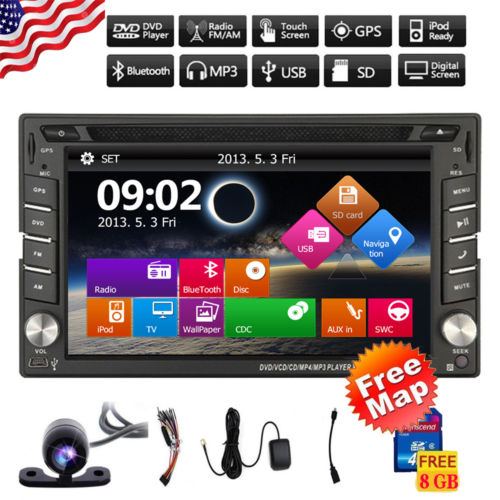 Gps navigator Car styling monitor PC Camera Stereo gps navigator Free Camera head unit Bluetooth FM AM Radio USB SD DVD Player