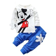 Baby Boys Girls Cartoon Mickey Minnie Children Clothing Set Spring Autumn Child Kids sports suit boy clothes 2pcs Infant outfits new 2017 spring fashion toddlers kids girls clothing sweater jeans suit cartoon outfits clothes