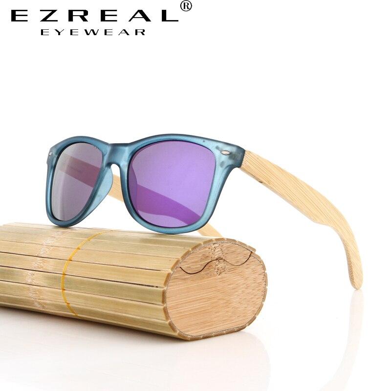EZREAL Vintage Bambou Bois Lunettes De Soleil En Bois Jambe lunettes de Soleil  Polarisées Femmes Marque Designer Hommes Conduite Lunettes 622e8abb21fb