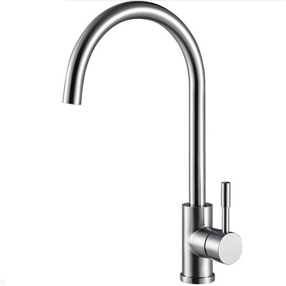 Buy Free Shipping 304 Stainless Steel Nickel Brushed Kitchen Sink Faucet Mixer