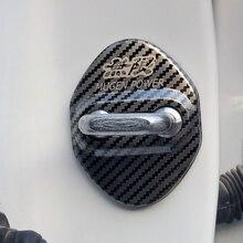 Cubiertas con emblema de fibra de carbono para coche Mugen Power Honda Civic Accord CRV Hrv, insignias adhesivas de Jazz, accesorios de estilismo para coche