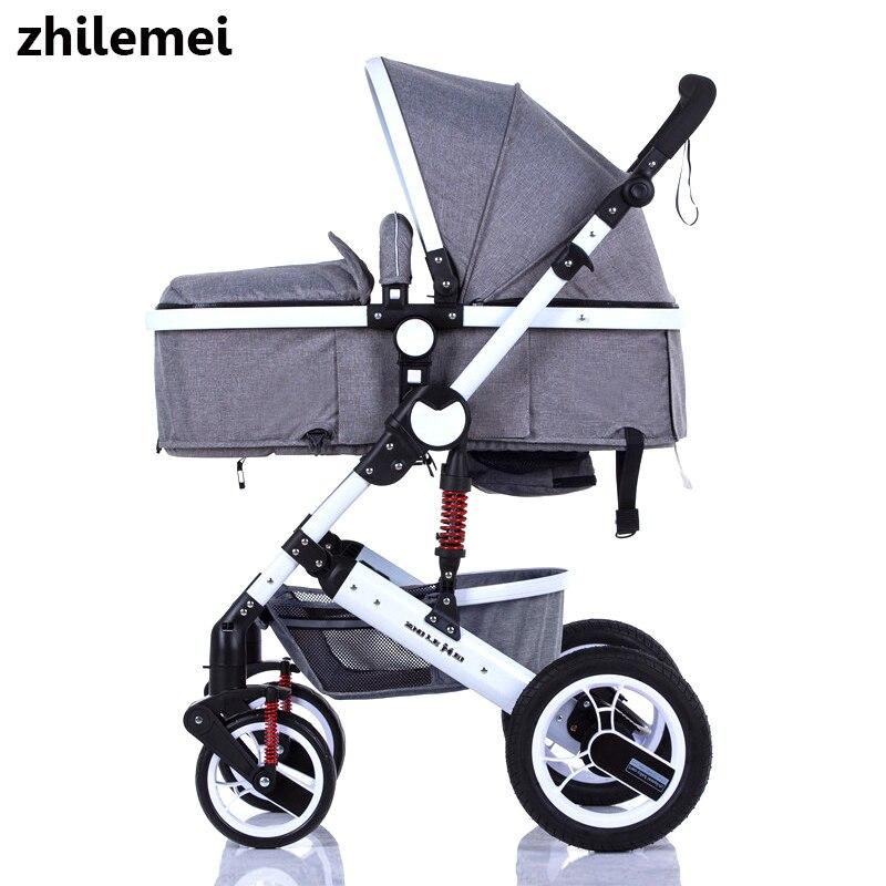 Zhilemei oley poussette haute paysage peut s'asseoir ou de s'allonger choc hiver enfants bébé transport livraison gratuite pour La Russie