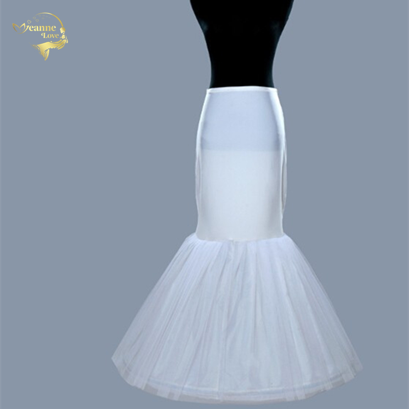 Good Hot Sale Cheap Free Shipping Mermaid Chemise Petticoat Crinoline Slip Underskirt For Mermaid Wedding Dress Bridal Gown 005