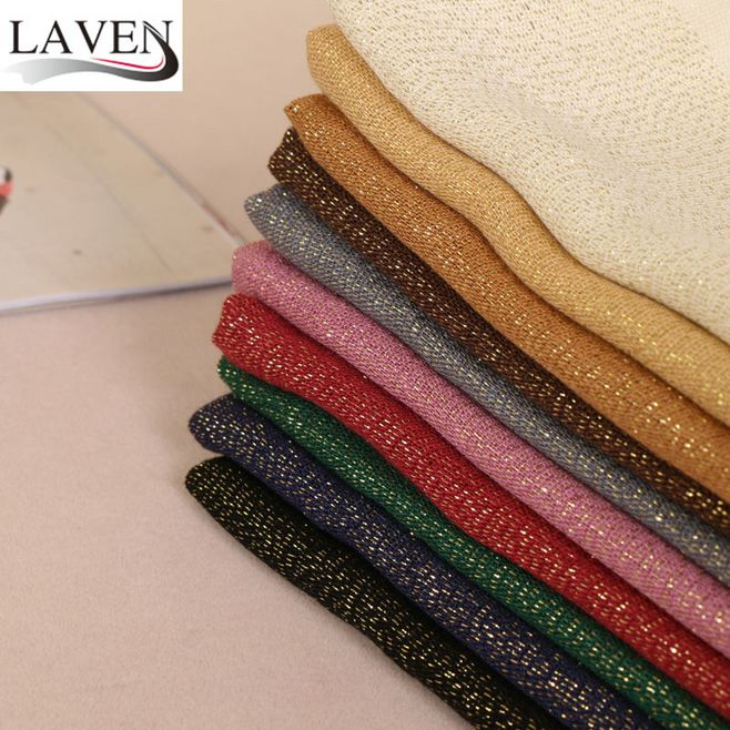 Popular Muslim Hijabs Wrap Turban Women Soft Cotton Glitter Gold Lurex Shimmer Shawls Hijab Long Scarves/Scarf 10 Color 170*70cm