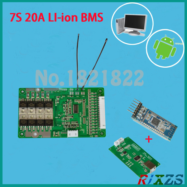 US $42 7  7S 20A active bms 2017 new Li ion smart bms pcm with android  Bluetooth app UART correspondence bms wi software (APP) monitor-in  Integrated