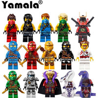 Yamala 15pcs Lot Hot Ninja Action Figures Cole Kai Jay Lloyd Nya Skylor Zane Pythor