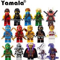Yamala 15pcs Lot Hot Ninja Action Figures Cole Kai Jay Lloyd Nya Skylor Zane Pythor