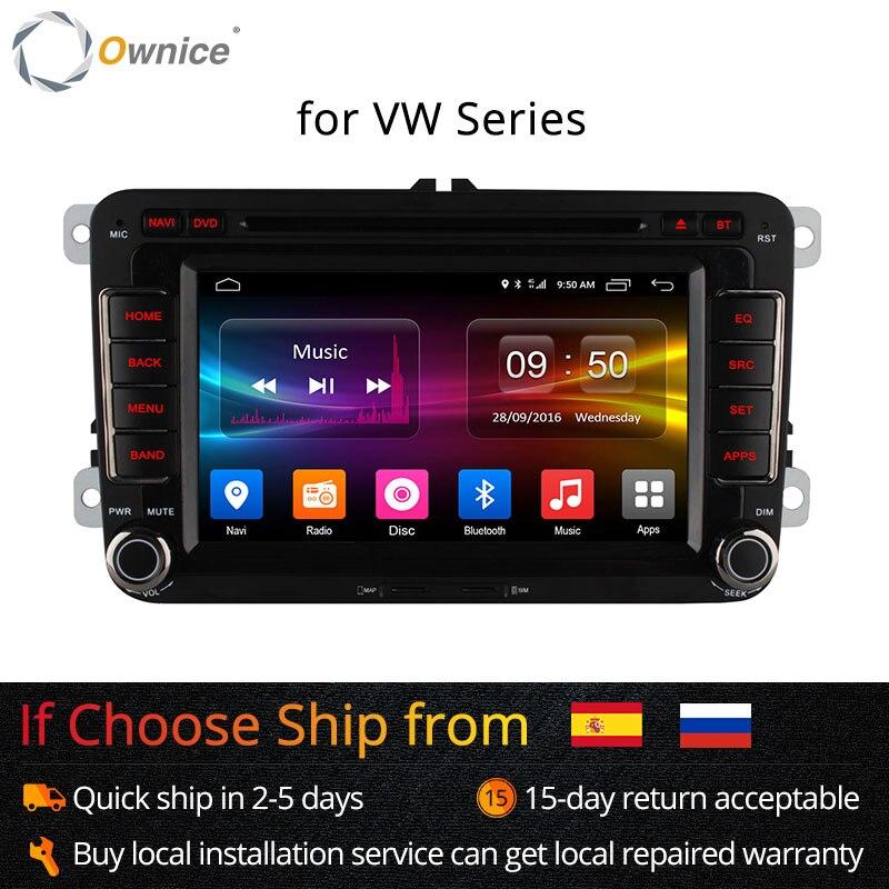 Ownice Android 2 Din autoradio lecteur dvd navigation gps pour Volkswagen Passat POLO GOLF Skoda Seat Leon 4G LTE Réseau