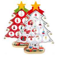 New Year Decoration For Home Gifts Wooden Artificial Christmas Tree Ornaments Decorations Decor Presents Festival Party
