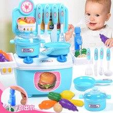 Childrens Playhouse Simulation Kitchen Cooking Kitchenware Toys Baby IQ Development Boys and Girls
