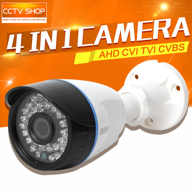 HD 720P 1080P AHD Camera CVI TVI CVBS Hybrid 4 In 1 Waterproof NightVision 1.0MP 2MP CCTV Security Camera Outdoor OSD Menu