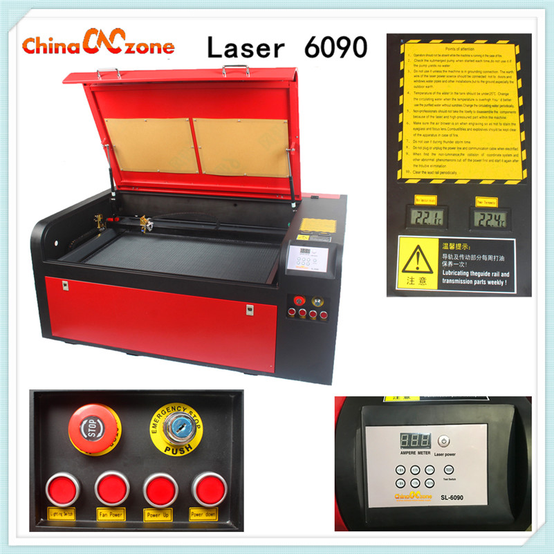 CNC Laser 6090 CO2 Laser Engraving Machine 100W 220v / 110v Laser Cutter Aggregate Mini DIY Router Engraving Carving Machine 110v 220v 4 axis mini cnc am3040 engraver carving engraving router machine