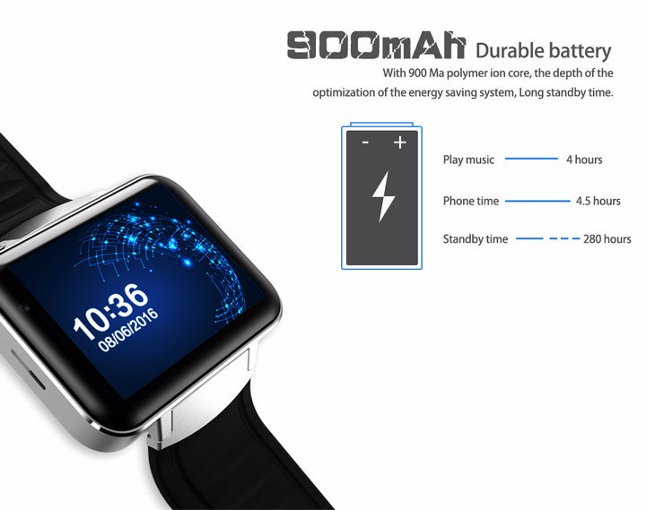 2.2-Display- 320240-LED-DM98-Smart-Watch-Android 5.1- MTK6572A-Dual-core -1.2G -900Mah -Camera-WIFI-3G-QQ-GPS-App-For-Smartphone (14)