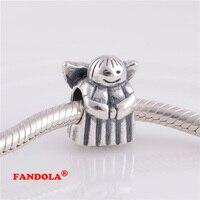 Fits Pandora Charms Bracelet Angel of Hope Vít Đề Charm Hạt Authentic 925 Sterling Silver Bạc Trang Sức Bán Buôn LW215
