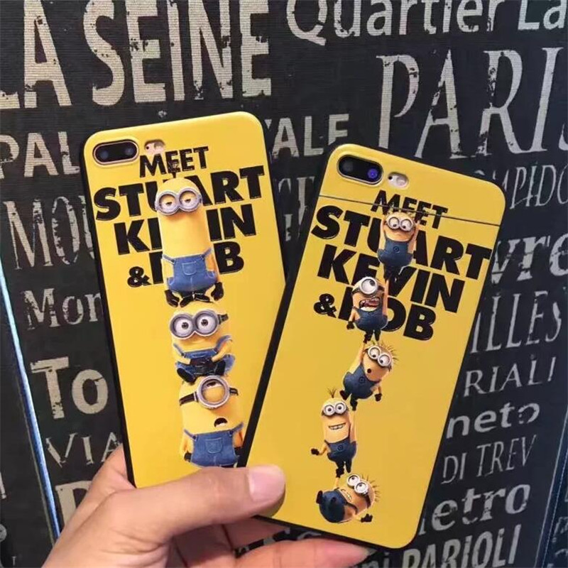 Cute cartoon Despicable Me 3 Minions soft TPU back cover for iphone 6 6s plus 7 plus phone cases