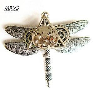 Часы в стиле стимпанк с подвеской в виде дракона, Винтажная брошь на цепочке для мужчин, женщин и девочек для рождественской вечеринки