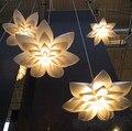 Nordic Modern minimalist  LED 110-240V 55cm/70cm/85cm E27 Art Pendant Lamp Decoration lighting for Home/Bar Lily PP Suspension