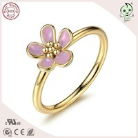New Collection European Famous Brand Design High Quality 14k Gold Plated 100 925 Real Silver Cherry