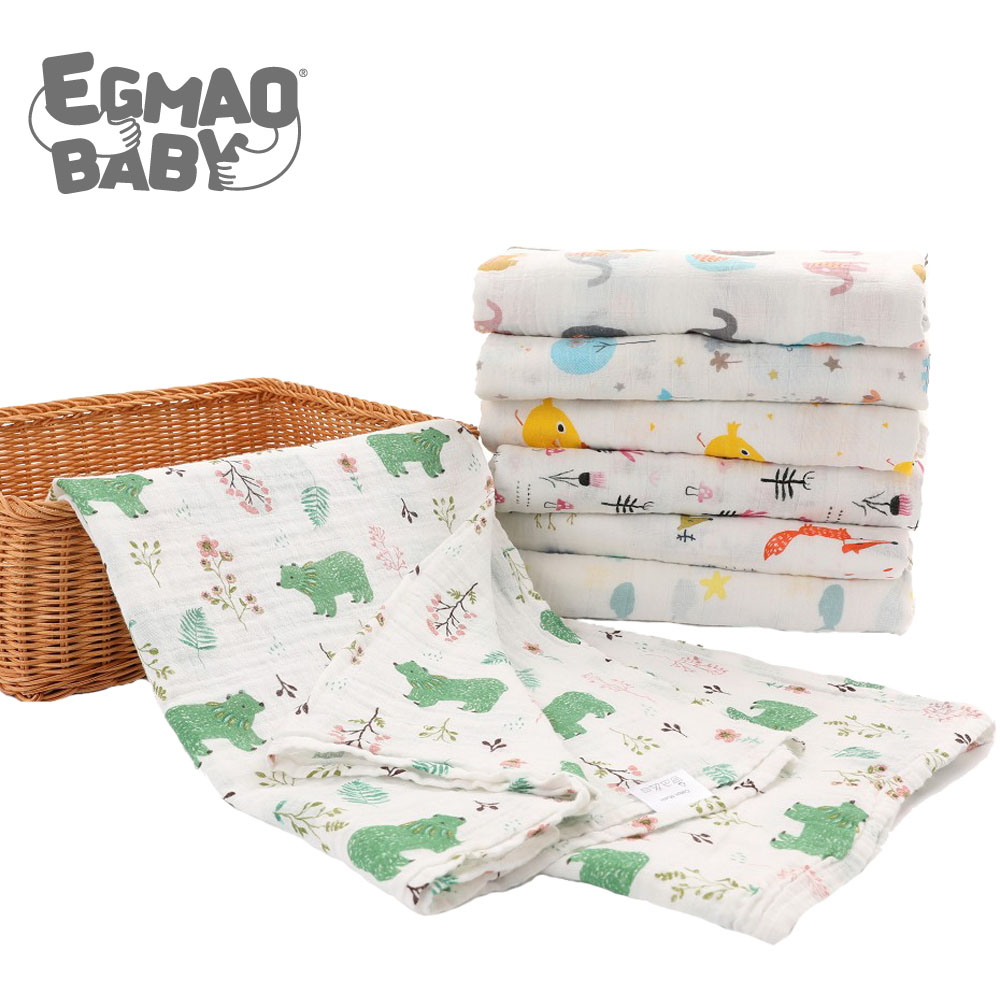 Muslin Swaddle Blankets 100% Organic Cotton Swaddles For Boys And Girls Soft Swaddling Receiving Sleep Blankets For Newborns