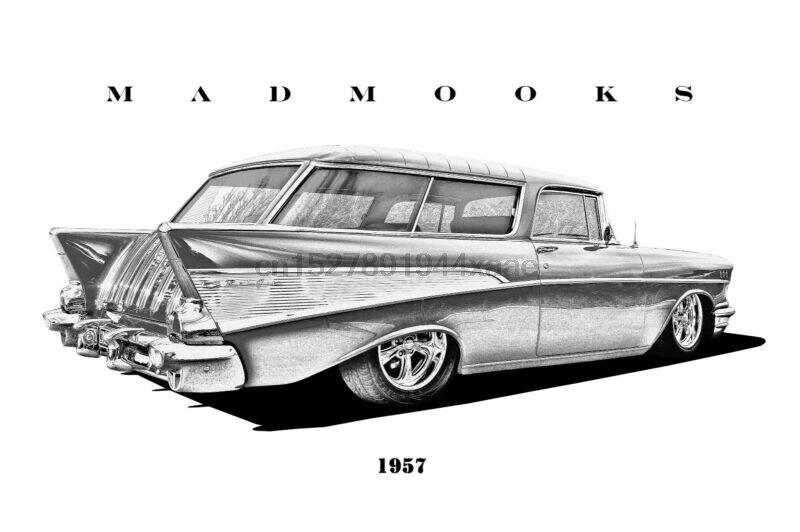 1957 Chevy Nomad SHIRT MADMOOKS