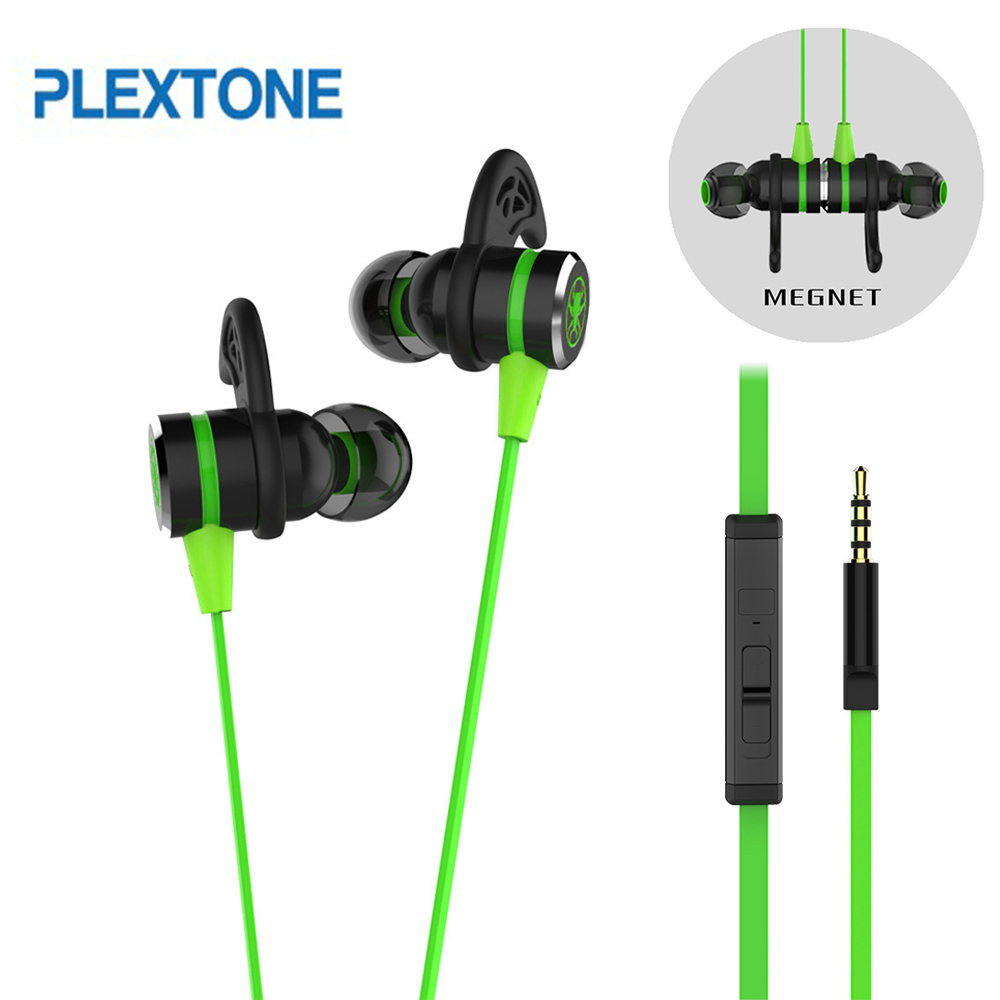 PLEXTONE G20 Earphones Gaming Magnetic Stereo In-Ear Earphone Computer Earbuds With Microphone Headset For phone PC teamyo n2 computer stereo gaming headphones earphones for mobile phone ps4 xbox pc gamer headphone with mic headset earbuds